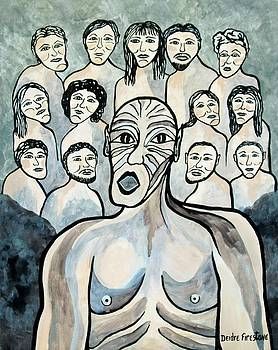 Twisted faces of the torn and demented by Deidre Firestone