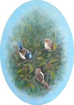 Twittering Trio by Rita Palm