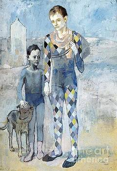 Picasso - Two Acrobats With a Dog