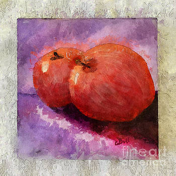 Claire Bull - Two Apples Framed