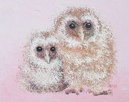 Jan Matson - Two baby owls