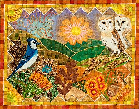 Two Barn Owls by Sandy Thurlow