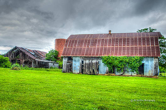 Two Barns #2 by Al Griffin
