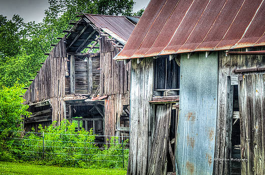 Two Barns by Al Griffin