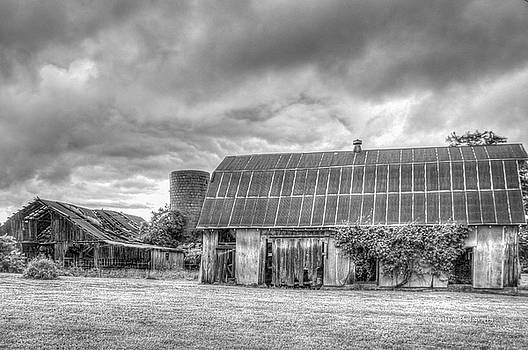 Two Barns in Monochrome #2 by Al Griffin