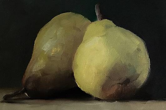 Two Beauties Pears Stilllife by Michele Carter