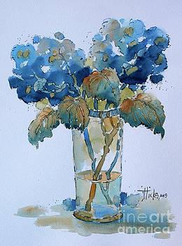 Two Blue Hydrangea by Joyce Hicks