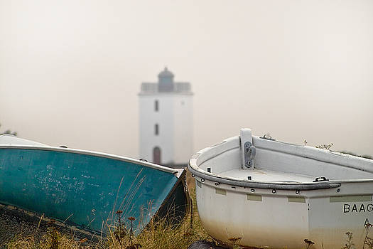 Robert Lacy - Two Boats and a Lighthouse