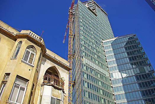 Two buildings.. by Zalman Latzkovich