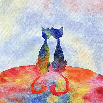 Irina Sztukowski - Two Cats In The Morning Silhouette