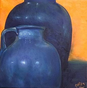 Two Ceramic Pots by Courtney Wilding