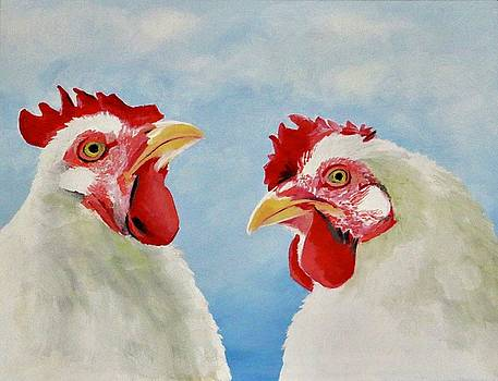 Two Chickens by Lori A Johnson