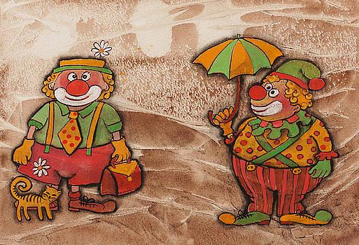 Two Clowns by Khromykh Natalia