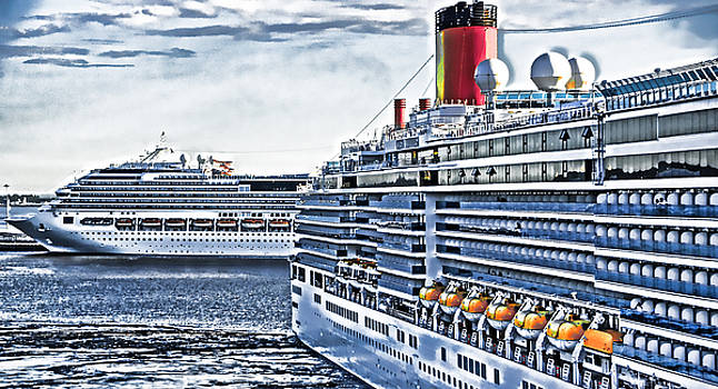 Dennis Cox WorldViews - Two Cruise Ships