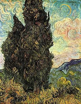 Van Gogh - Two Cypresses
