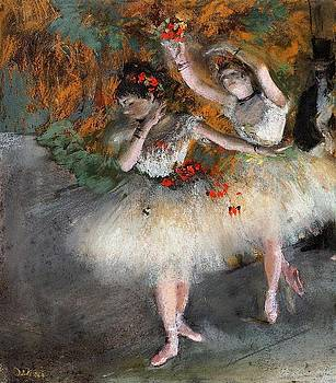 Degas - Two Dancers Entering The Stage