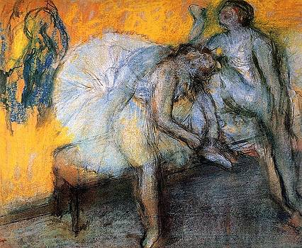Degas - Two Dancers In Yellow and Pink