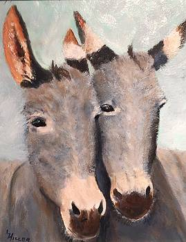 Two Donkeys by Linda Hiller