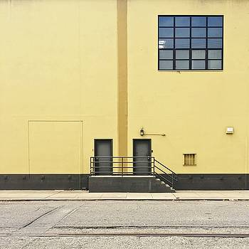 Two Doors In Yellow Wall by Julie Gebhardt