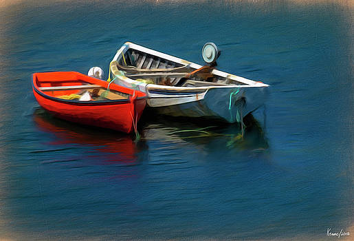 Two Dories by Ken Morris