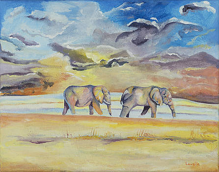 Two Elephants by Kimberly Lavelle