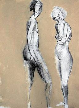 Two Figures by Brooke Wandall