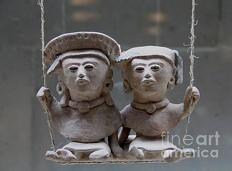 Two Figures on a Swing Veracruz Mexico by Linda Queally
