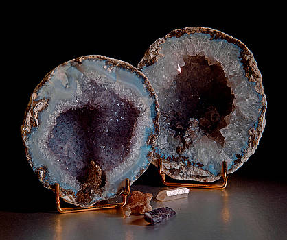 Two Geodes by Lonnie Paulson