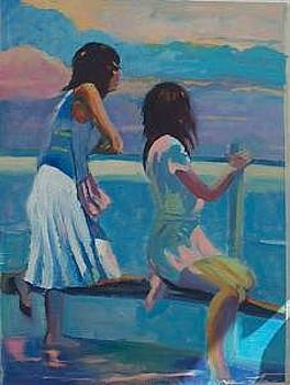 Two Girls By The Sea by Perry  Rubenstein