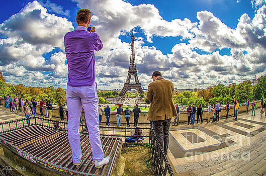 Julian Starks - Two guys at the Eiffel Tower