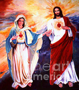 Two Hearts of Jesus and Mary by Reveille Kennedy