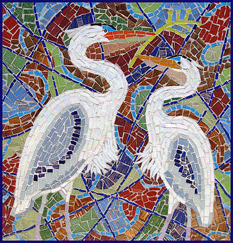 Two Herons  by Anju Jolly
