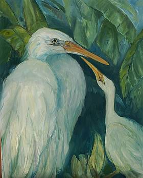 Two Herons by Ruth Mabee