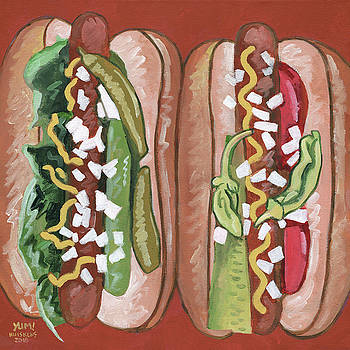 Two Hot Dogs by Randal Huiskens