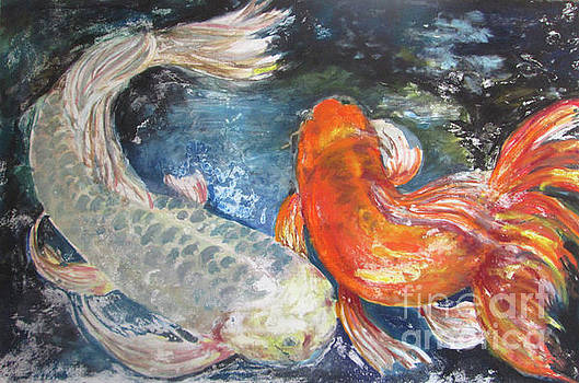 Two Koi by Susan Herbst