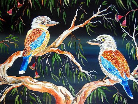 Two kookaburras by Roberto Gagliardi