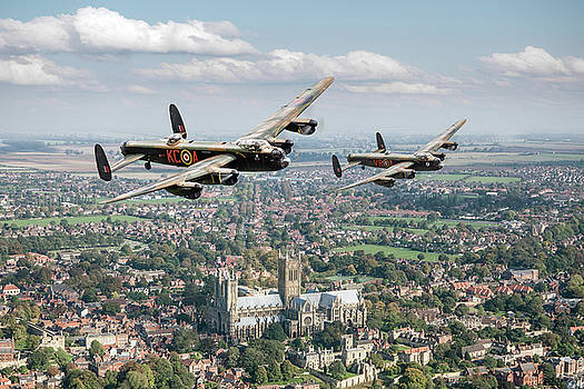 Gary Eason - Two Lancasters over Lincoln Cathedral