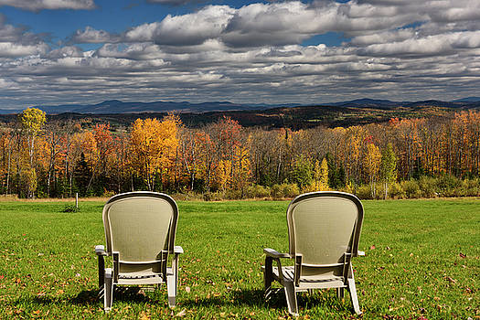 Reimar Gaertner - Two lawn chairs at Green Bay Loop overlooking Peacham and Barnet
