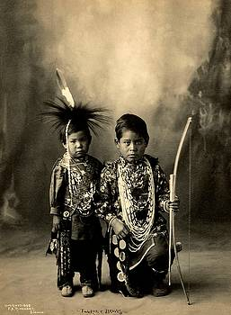 Two Little Braves of the Sac and Fox Tribe A Frank Rinehart Platinotype circa 1900 by Peter Gumaer Ogden