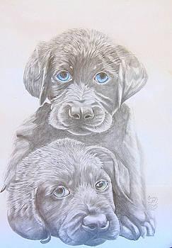 Emma Lyon - Two little puppies