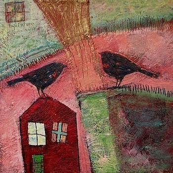 Two Love Birds Meet Again by Cynthia Scontriano schildhauer