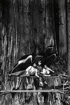 Daniel Hagerman - TWO LUMBERJACKS and BOY c. 1890