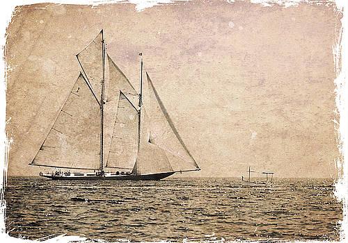Pedro Cardona Llambias - Two mast vessel and a little boat 3