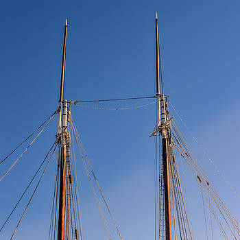 Two Masts by Guy Whiteley