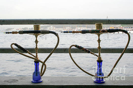 Two Middle Eastern Water Pipes by Jacky Telem