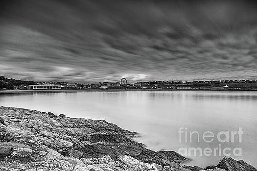 Two Minutes At Barry Island Monochrome by Steve Purnell