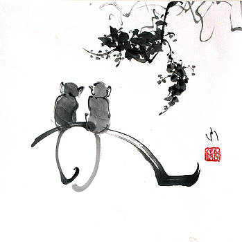 Two Monkeys by Fumiyo Yoshikawa