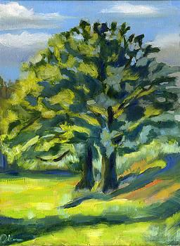 Two Oak Trees by Lelia Sorokina