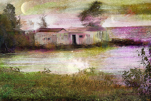 Two Old Boat Houses Near Grand Marais by Gail Gates