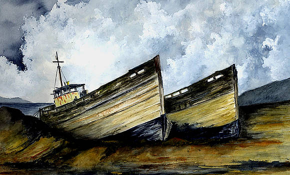 Two Old Boats by Michael Vigliotti